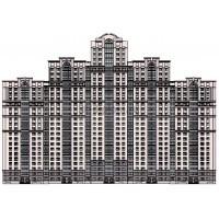 24-этажная монолитная секция многосекционного жилого дома переменной этажности в г.Одинцово