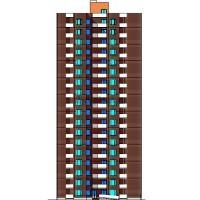 18-этажный монолитный жилой дом в г.Омск