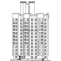 Монолитный 16-этажный жилой дом с подземным гаражом для семей военно-служащих в г Чебоксары