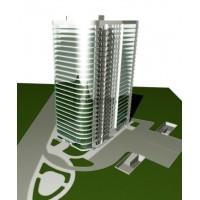 Административно-гостиничный комплекс на 25 этажей с подземной автостоянкой в г.Чебоксары