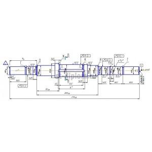 Деталь ВАЛ в составе электродвигателя ДМТК 011-6