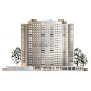 20-этажный 2-секционный жилой дом с подземной парковкой в г.Казань