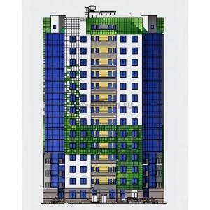 14-этажный монолитный жилой дом в г.Сосновый Бор