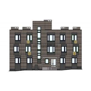 3-этажный муниципальный кирпичный жилой дом в г.Исилькуль