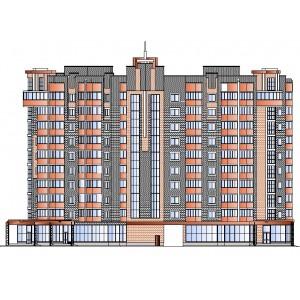 10-этажный кирпичный жилой дом с торговым помещением на первом этаже в г.Пенза