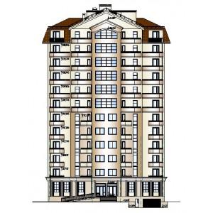 12-этажный жилой дом с мансардным этажом и подземной автостоянкой в г.Геленджик