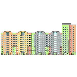 10-14-этажный 5-секционный монолитный жилой дом с подземной парковкой в г.Москва