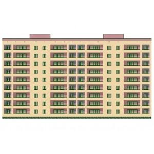 9-этажный 2-секционный жилой дом из кирпича с нежилыми помещениями в г.Москва