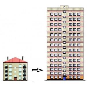 Реконструкция с расширением несносимых жилых зданий 1960-х годов с увеличением этажности до 14 этажей в г.Москва