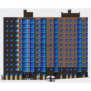 11-этажный жилой дом с подземной автостоянкой на 66 автомобилей в г.Кемерово