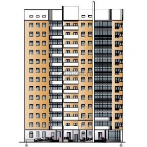 13-этажный жилой дом с подземной стоянкой и магазином в г.Пермь