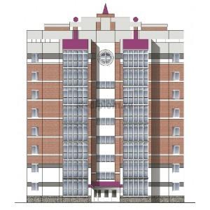 8-этажный кирпичный жилой дом в г.Курган