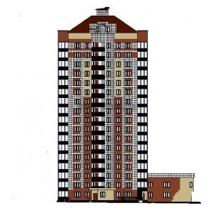 17-этажный каркасный жилой дом в г.Томск