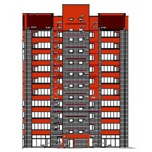 10-этажный кирпичный жилой дом в г.Красноярск