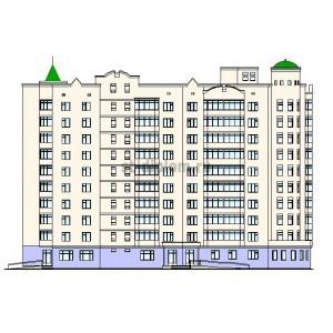 10-этажный жилой дом с офисами в г.Белгород