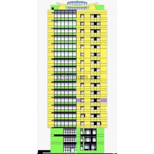 18-этажный жилой дом с офисными помещениями в г.Липецк