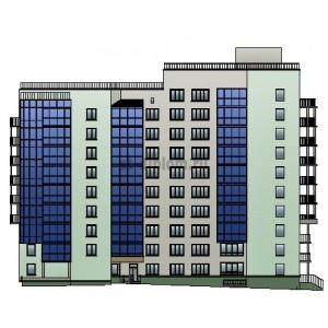 Монолитный жилой дом переменной этажности с подземным паркингом в г.Липецк