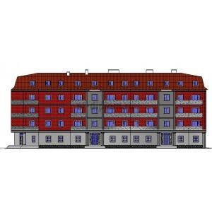 40-квартирный кирпичный дом с библиотекой и мансардой в г.Ливны