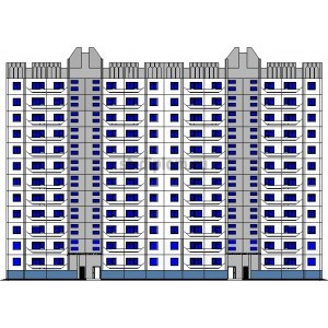 12-этажный жилой панельный дом в г.Саратов