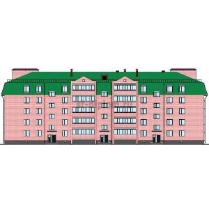 Кирпичный жилой дом для военнослужащих в военном городке г.Курск