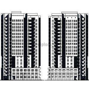 18-этажный жилой дом точечного типа с нежилым этажом в г.Москва