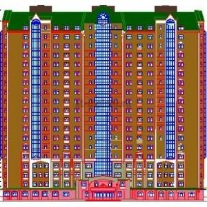 19-этажный жилой каркасный дом типа SARET c офисными помещениями в г.Казань
