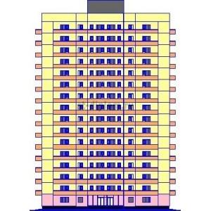 Бескаркасный 16-этажный жилой дом в  г. Благовещенск