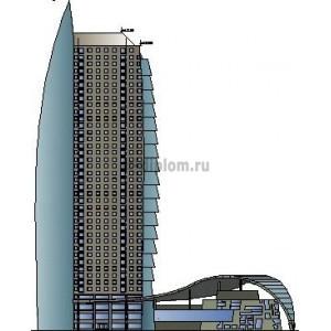 Многоэтажное жилое здание в зоне перехода ж/д путей в г. Благовещенск