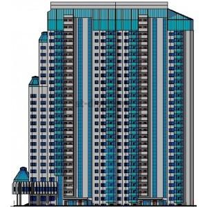Монолитный 28-этажный жилой дом в г.Волгоград