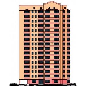 16-ти этажный кирпичный жилой дом с подземным паркингом и офисными помещениями в г. Кострома