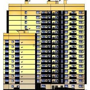 Монолитно-кирпичный дом на 243 кв. с помещениями общественного назначения на 1-ом эт. в  г. Ижевск