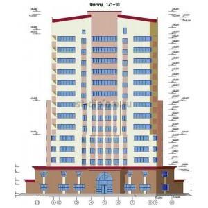 14-ти этажный Жилой Дом с кафе магазином в г. Белгород