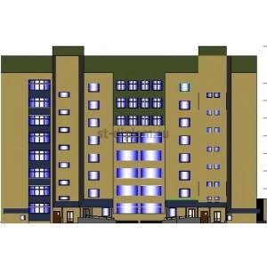 Реконструкция и надстройка 5-этажного жилого здания в г. Оренбург
