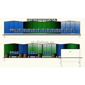 Сервисный металлоцентр с административно-бытовым зданием в г. Новосибирск