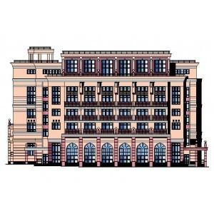 5-этажный гостиничный комплекс с административными помещениями в г.Краснодар
