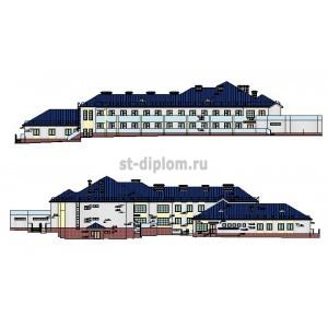 Спальный корпус на 100 мест дома-интерната для престарелых и инвалидов в Выселковском р-не