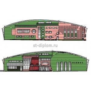 3-этажный спортивный комплекс с бассейном в г.Фокино