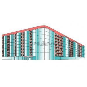 9-этажная 4-звездочная гостиница на 200 мест в г.Чебоксары