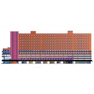 Реконструкция 6-этажного торгово-офисного комплекса в г.Москва