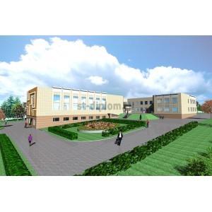 Средняя школа с детским садом в пос.Затеиха