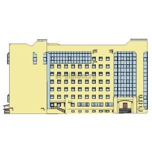 7-этажное здание УВД и судебных приставов с подземной автостоянкой в г.Краснодар