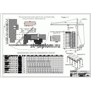 Техкарты на монтаж монолитного перекрытия жилых зданий