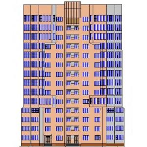 14-этажный кирпичный жилой дом с офисными помещениями в г.Старый Оскол
