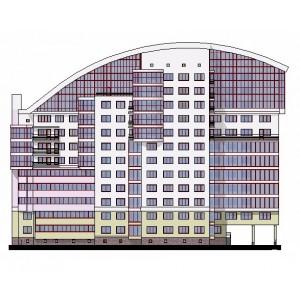 Жилой дом переменной этажности с автопаркингом в г.Курск