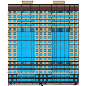 17-этажный 5-секционный жилой дом в г.Воронеж