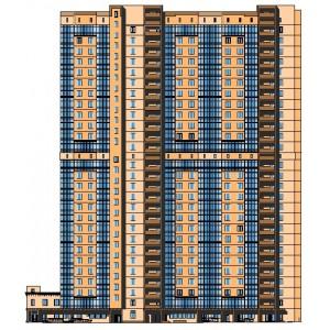 Секция 28-этажного монолитного жилого дома с подземной автостоянкой в г.Красногорск