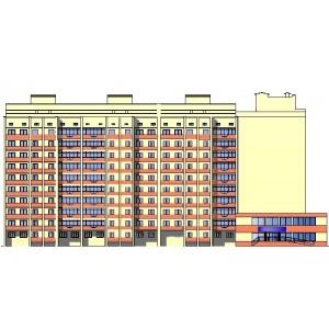 10-этажный 6-секционный кирпичный жилой дом в г.Воронеж