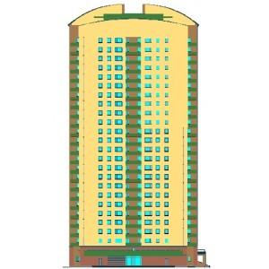 23-этажный монолитный жилой дом индивидуальной планировки в г.Москва
