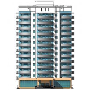 13-этажный жилой дом-башня с квартирами эконом-класса в г.Чебоксары