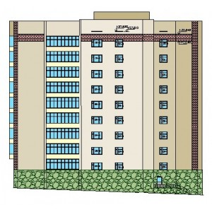 9-этажный жилой дом на 27 квартир в г.Ижевск